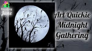 midnight gathering step by step acrylic painting on canvas for beginners hildur k o art blog