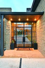 modern glass front door modern glass panel exterior door