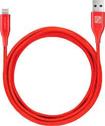 Купить <b>Кабель</b> Lenzza Lighthing 1,<b>2</b> м, кевлар, красный— цена ...