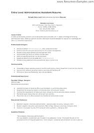 Entry Level Administrative Assistant Resume Luxury Fice Assistant
