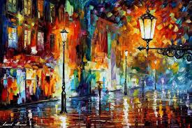 large oil painting art oil painting night lights night lights