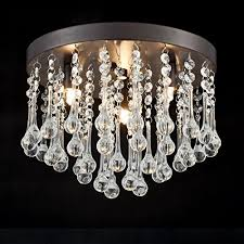 claxy ecopower vintage flush mount crystal chandelier oil rubbed bronze ceiling fixture 3 lights