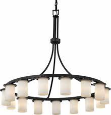 justice design cld 8735 10 clouds dakota modern hanging chandelier