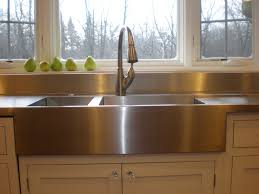 chicago farmer style stainless steel countertop with stainless steel sinks and stainless steel dishboard specialtystainless com