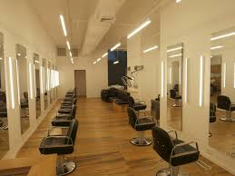 salon lighting ideas. main space looking towards the salon floor elements include custom chairs by takara belmont linear lighting aamsco alinea leds and bartco ideas