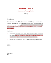 Resignation From The Company Free 9 Sample Letter Of Resignation In Doc Pdf