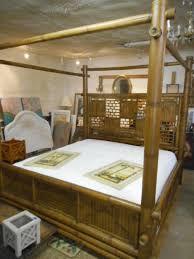 Bamboo King Canopy Bed Coastal Comfort Tropical!