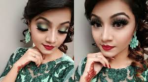 minty green eye makeup tutorial wedding guest party makeup look you