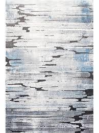 crete faded lines grey blue modern rug 23173 953