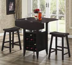 Kitchen Pub Table And Chairs Kitchen Mimosa Bar Table With Round Glass Top And Stainless Steel