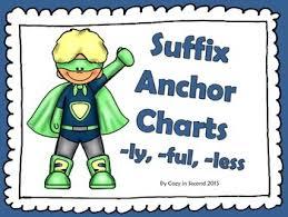 Suffix Anchor Chart Suffix Anchor Charts Free