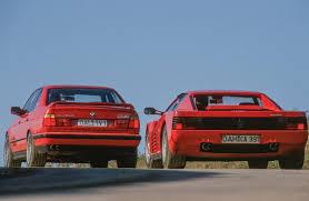 BMW 3 Series bmw m5 1990 : Ferrari Testarossa vs. BMW M5 E34 - 1990 giant road test - Drive