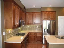 ... Kitchen, Inspiring Brown Square Contemporay Wooden Home Depot Kitchen  Cabinets Stained Design: Captivating Home ...