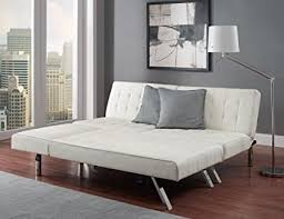 modern sofa bed. Modern Sofa Bed Sleeper Faux Leather Convertible Set Couch Chaise Lounge Furniture Vanilla U