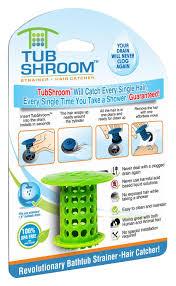 tubshroom revolutionary hair catcher drain protector for tub drains no more clogs green com
