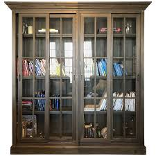 viyet designer furniture storage arhaus glass front sliding door bookcase bookcases ikea built bookshelves desk and