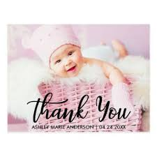 Baby Thankyou Modern New Baby Thank You Postcard Baby Gifts Baby Baby Shower