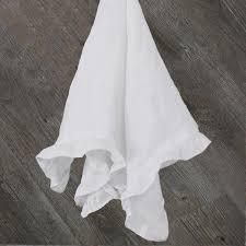 table napkins. ruffles table napkins closeup; 100% pure washed linen n