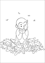 curious george coloring pages fall leaves