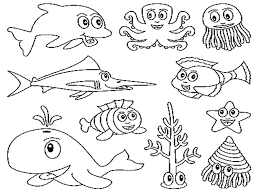 Small Picture Sea Animals Coloring Pages to Print Coloring Page for Kids