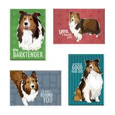 sheltie gifts magnet set of four shetland sheepdog sheltie magnets