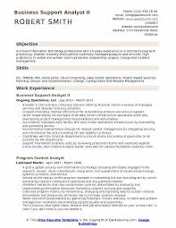 Business Support Analyst Resume Samples Qwikresume
