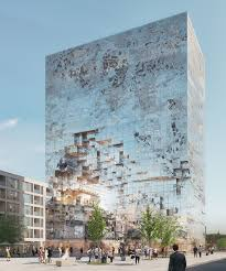 Office building facades Modern Mvrdv Plans Office Building In South Germany With Reflective Fragmented Façade Etegra Mvrdv Plans Office Building In Germany With Fragmented Façade