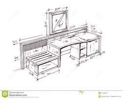 Image Pinterest Hand Drawn Illustration Of Furniture Isolated On White Please Feel Welcome To Check Out My Huge Superior Library Of Interior Hand Drawings Designers Dreamstimecom Modern Interior Design Desk Freehand Drawing Stock Illustration