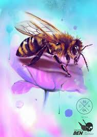 Wolny Projekt Tattoo Tatuajes пчела эскизтату Bee