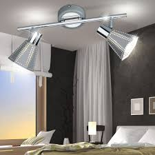 wall mounted spotlights in gray gold with moving spots bild 5