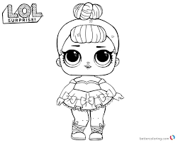 Lol Surprise Coloring Pages Cute Sugar Queen Free Printable