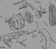 alternator shield and belt 02c18 tractor john deere 4840 list of spare parts