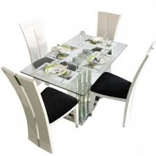 glass dining table sets india. crystal deco 4 seater glass top dining table set sets india g