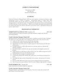 Collections Resume Examples Credit And Collections Manager Resume Examples Krida 12