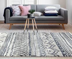 zanzibar 597 blue moroccan style modern rug