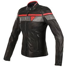 dainese blackjack lady leather jacket red zoom
