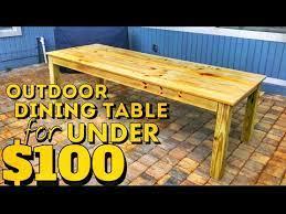 how to build an outdoor farmhouse table