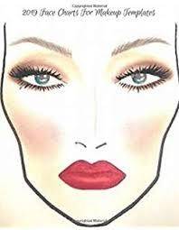 Makeup Face Chart A Professional Blank Makeup Practice