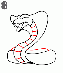 easy cobra snake drawings. Beautiful Cobra Step 8 Draw In The Inner Body Details To Give Snake A Pattern To Easy Cobra Snake Drawings W