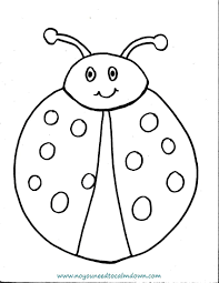 Small Picture Smiling Lady Bug Coloring Page Smiling Lady Bug Coloring Page