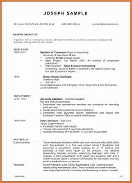 Resume Sample For Accounting Assistant List Of Accounting Cv Example