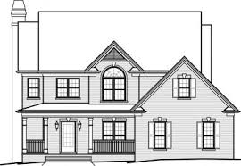 House Plans   Home Plans by Paul Gilbert Distincitve DesignsHome Plan   Front View