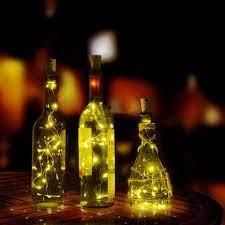 Dây đèn LED 10 bóng 1m có chuôi gắn hình nắp bần trang trí chai rượu dùng  trong tiệc tùng - Đèn trang trí Nhãn hàng Bluelans