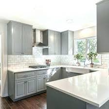 white and grey gray shaker cabinets quartz counter tops marble subway tile dark countertops granite tiles
