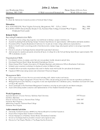 Writing Skills On Resume Good Examples Of Skills And Abilities For