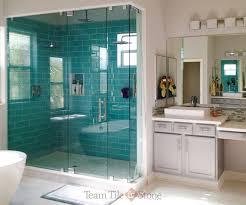glass enclosed tiled shower