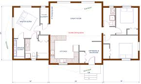 bungalow open floor plans modern house plan with balcony vintage 2