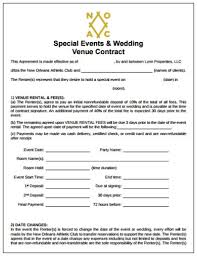 Venue Contract Template Wedding Event Contract Templates Google Docs Ms Word
