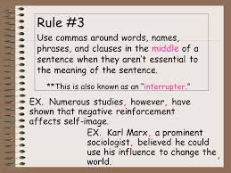 When Do I Use A Comma When Do I Use A Comma Quick Rules For Comma Usage Ppt