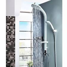 Weißes Aluminium Duschpaneel Duschsäule Mit Regendusche Von Sanlingo